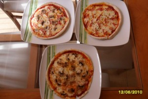 Pizza a base de pan árabe