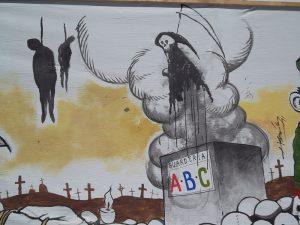 Mural de Guarderia ABC / Foto: Zapata