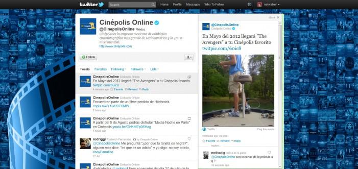 Nuevo error de Cinepolis en Medios Sociales