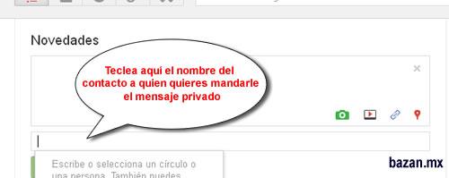 Mensaje privado en Google+