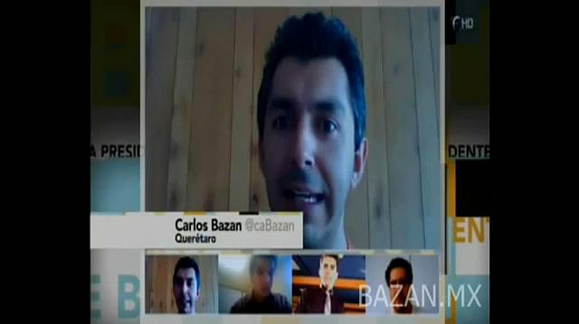 """Video: Hangout con Carlos Bazán-Canabal en """"Se Busca Presidente"""" en Foro TV / Política y redes sociales"""