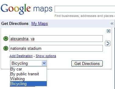 Google agrega direcciones para ciclistas en Google Maps