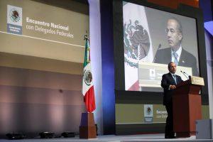 Felipe Calderón en el Encuentro Nacional con Delegados Federales