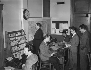 Periodismo en 1941 / Foto: Conrad Poirier