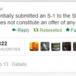 Twitter anuncia planes para su IPO
